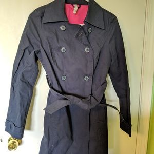 Old Navy Blue Rain Trench